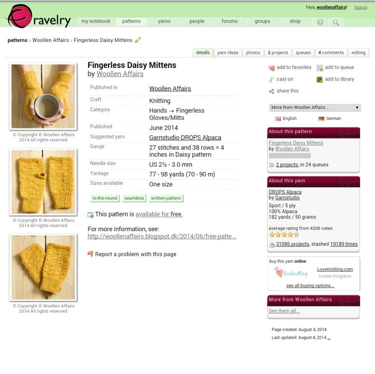Woollenaffairs on Ravelry
